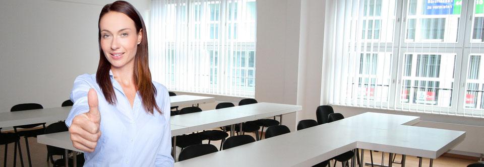 Seminarraum 8 für bis zu 24 Teilnehmer-PCs